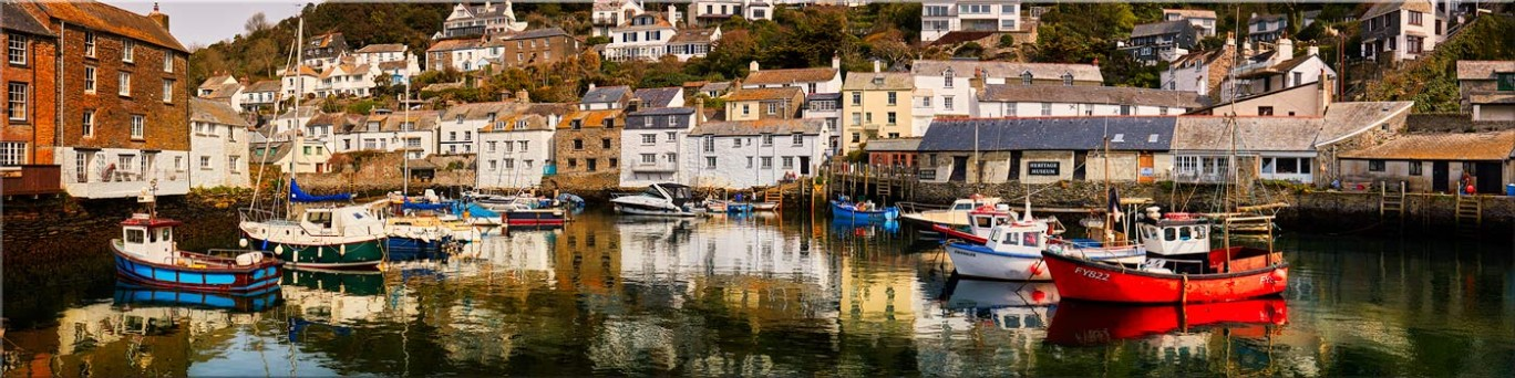 Polperro Reflections - Canvas Prints