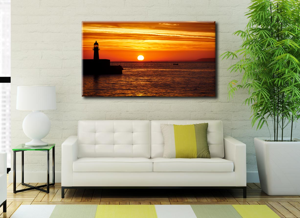 St Ives Harbour Sunrise - Cornwall Canvas on Wall