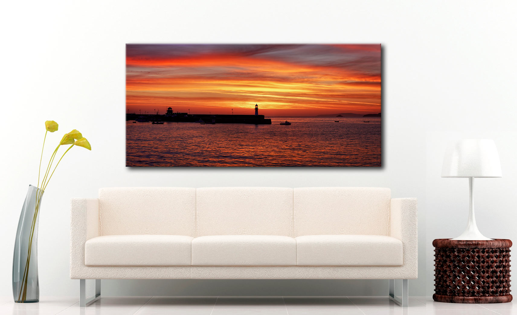 Golden Dawn St Ives - Canvas Print on Wall