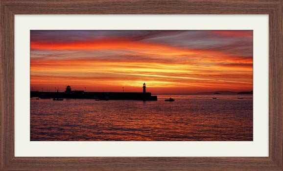 Golden Dawn St Ives - Framed Print with Mount