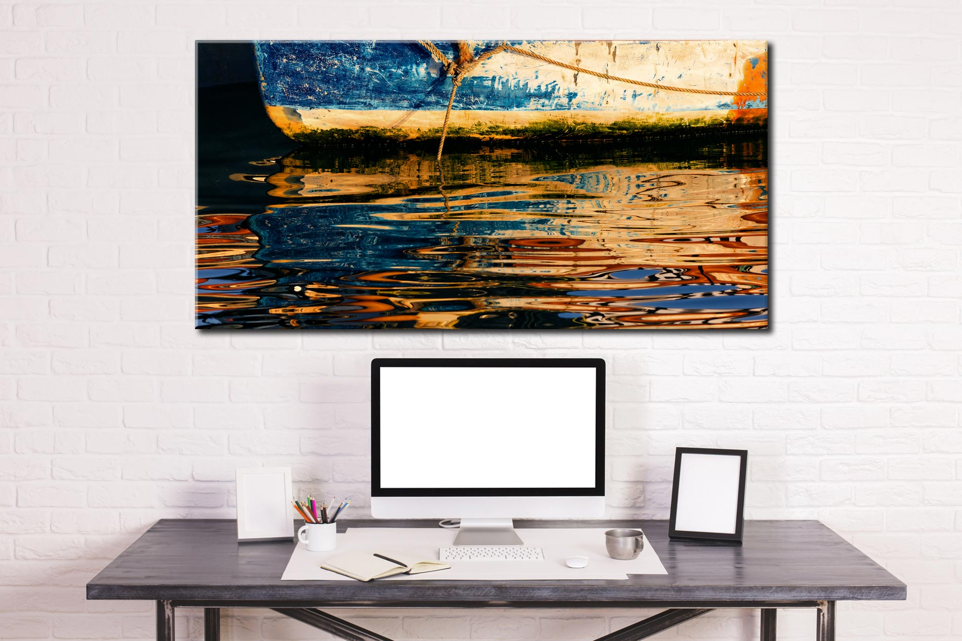 Dawn Harbour Colours - Canvas Print on Wall