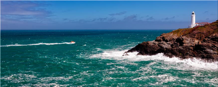 Trevose Head Lighthouse and Lifeboat - Canvas Print