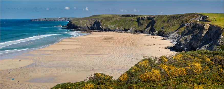 Spring at Watergate Bay - Canvas Print