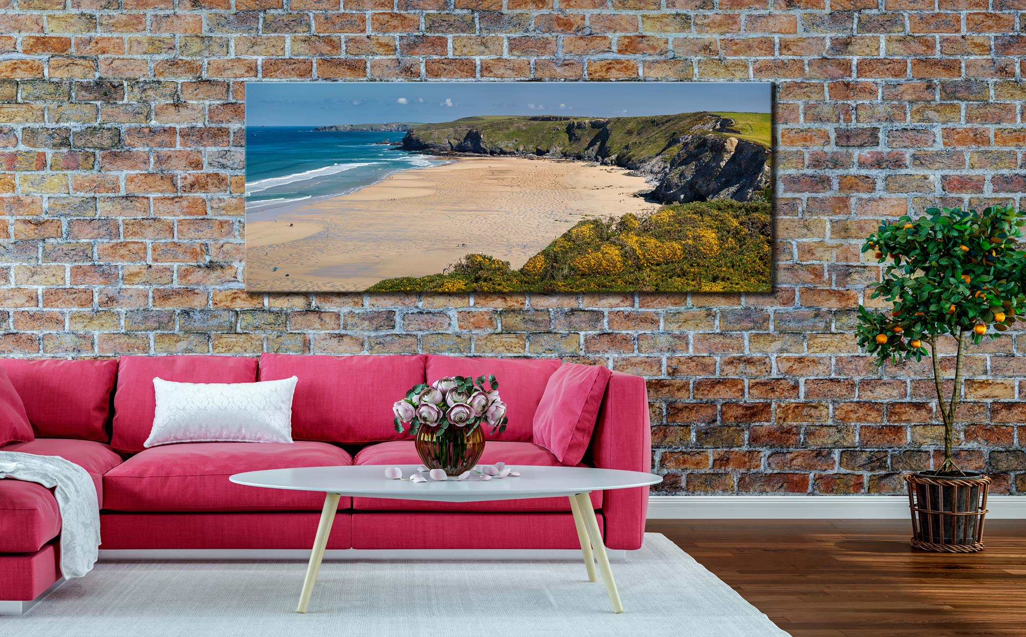 Spring at Watergate Bay - Canvas Print on Wall