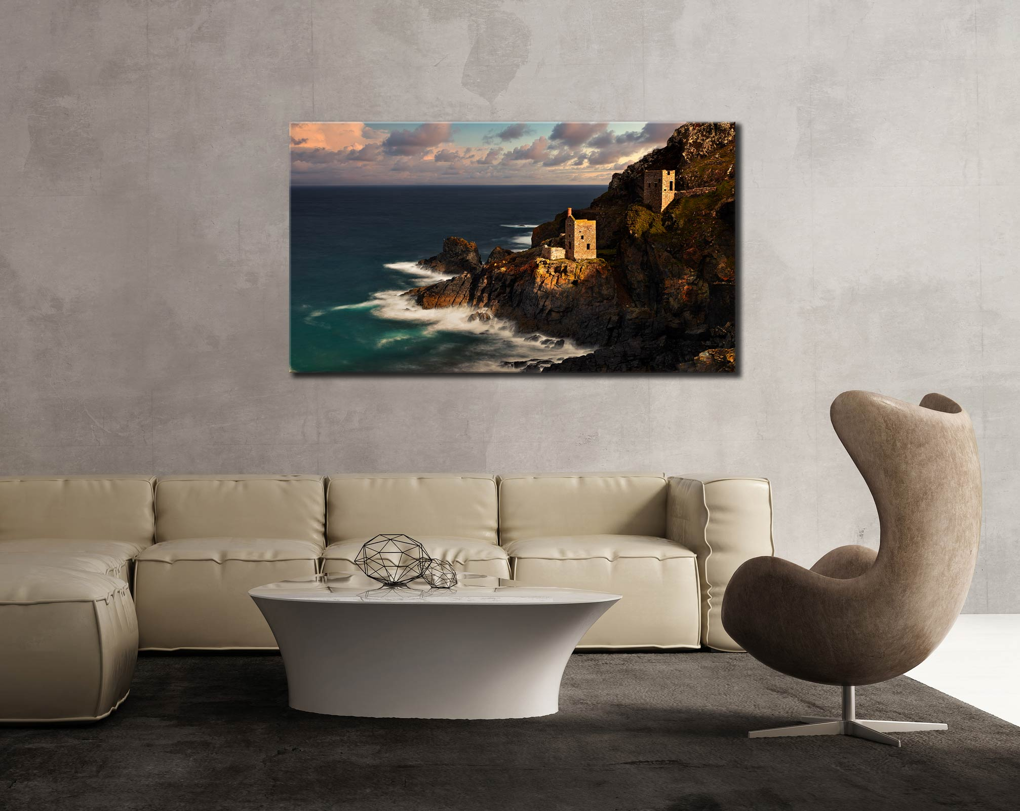 Botallack in the Sunshine - Cornwall Canvas on Wall