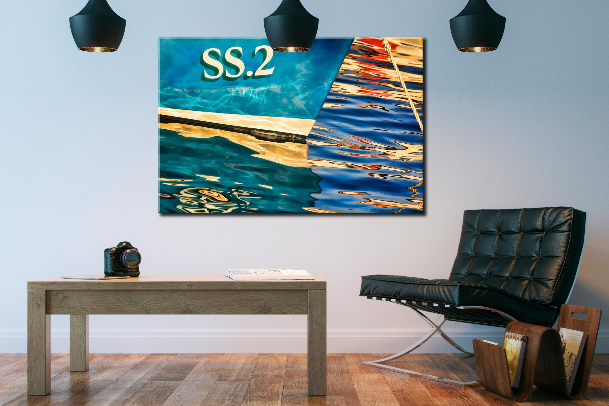 Water Colours St Ives Harbour - Cornwall Canvas on Wall