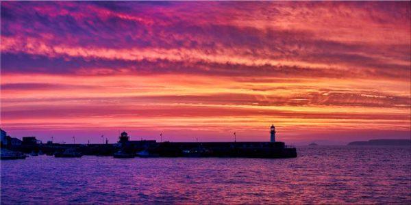 St Ives Purple Skies of Sunrise - Canvas Print