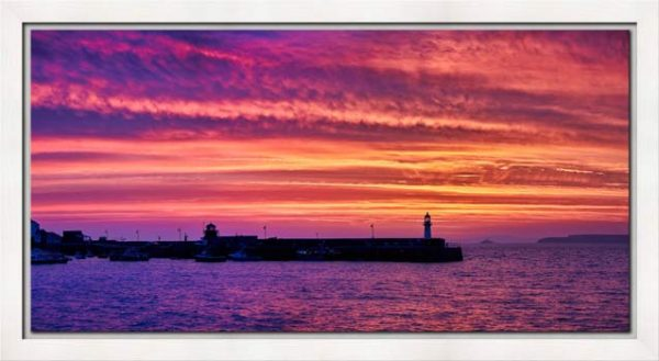 St Ives Purple Skies of Sunrise - Modern Print