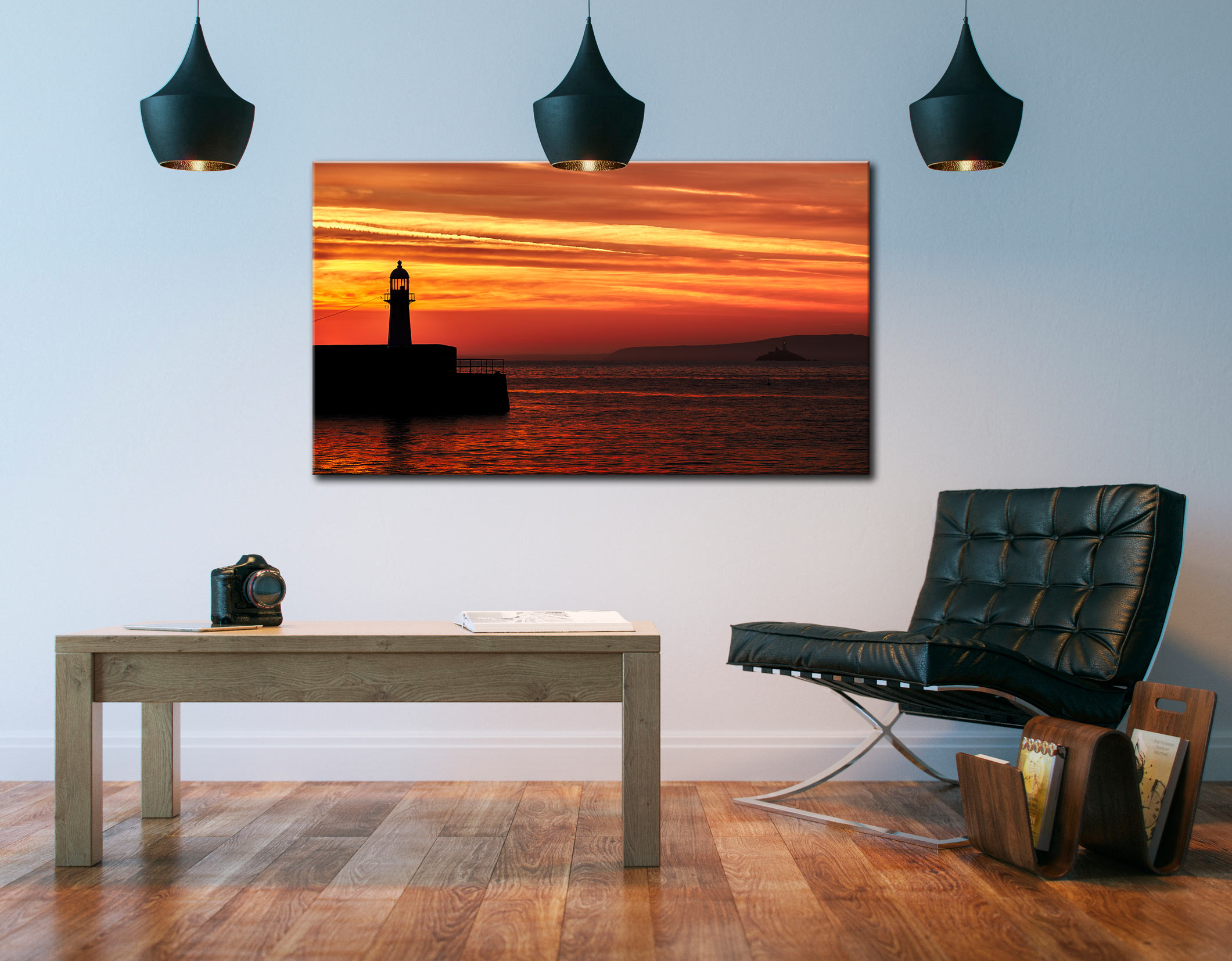 St Ives Lighthouses - Cornwall Canvas on Wall