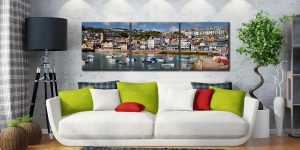 Wharf Road St Ives - 3 Panel Canvas on Wall