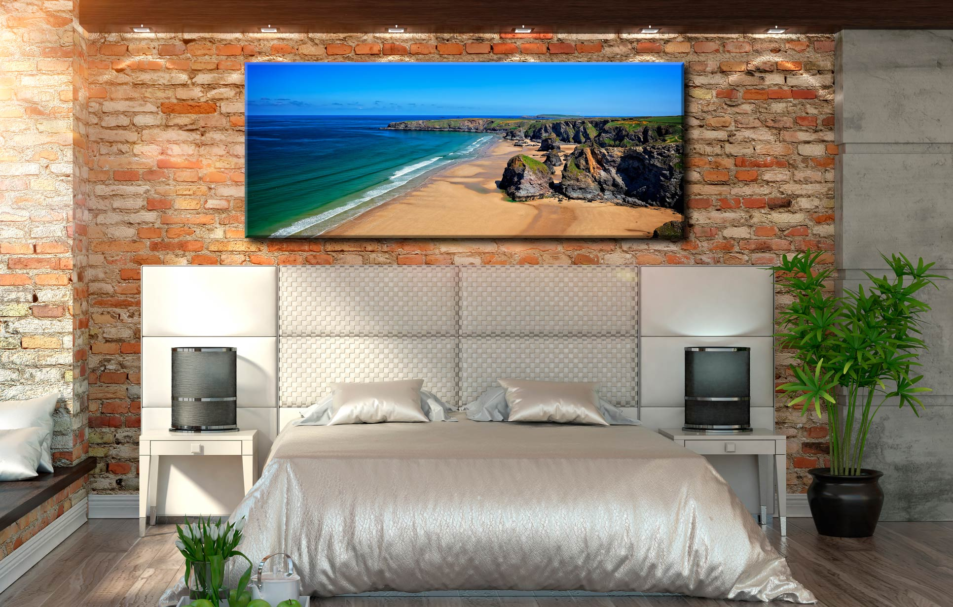 Bedruthan Beach Cornwall - Canvas Print on Wall