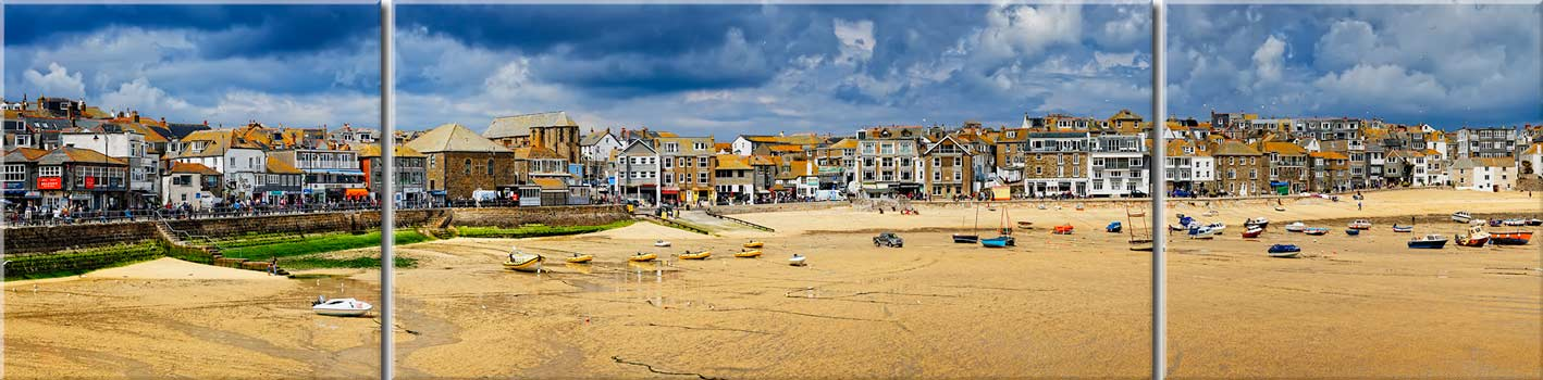 St Ives Cloudy Panorama 2 - Canvas Print
