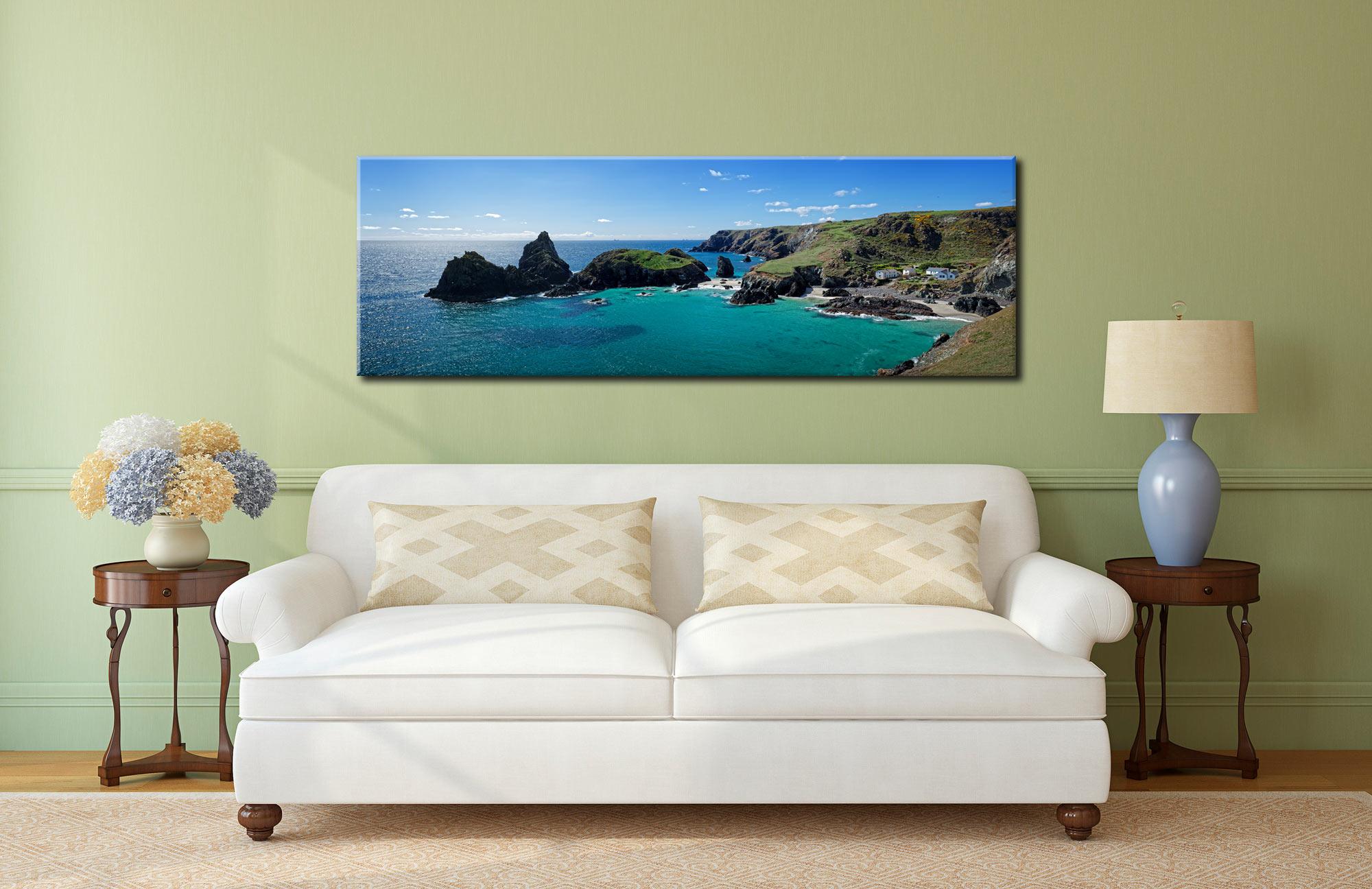 Kynance Cove PanoramaCanvas on Wall