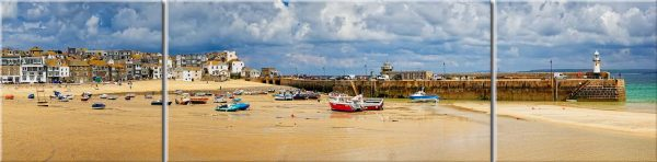 St Ives Cloudy Panorama - Canvas Print