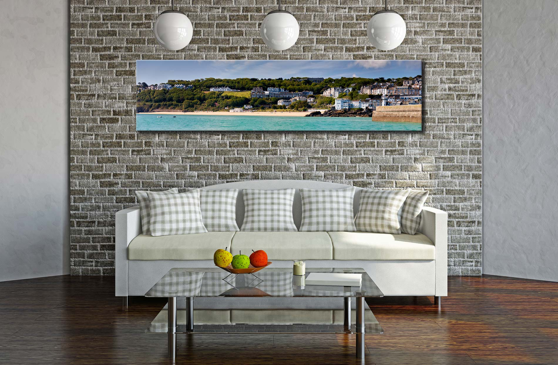 Porthminster Beach Panorama - Cornwall Canvas on Wall