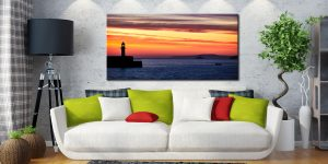 Dawn Harbour St Ives Lighthouse - Canvas Print on Wall