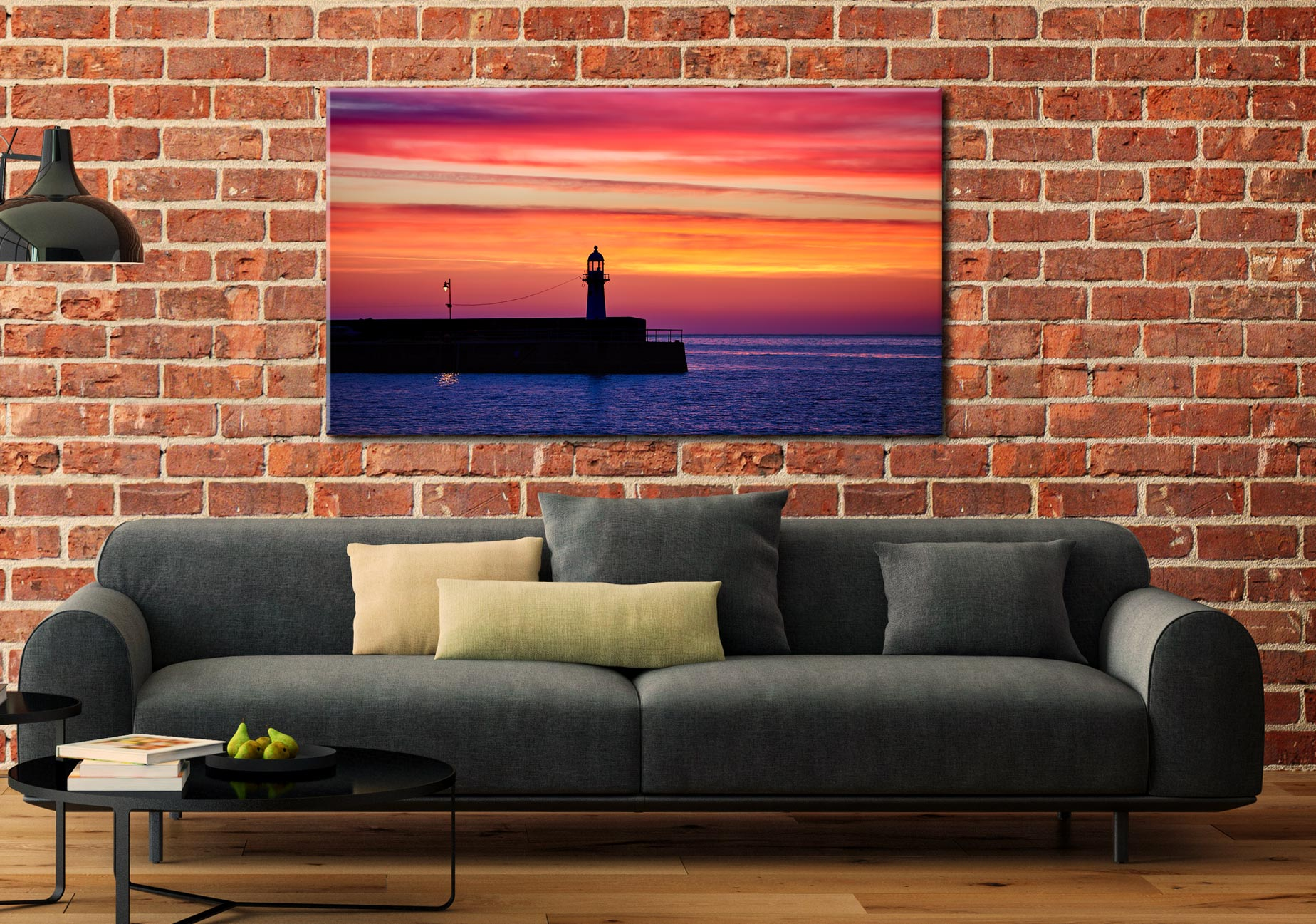 Lighthouse and the Lamp - Cornwall Canvas on Wall