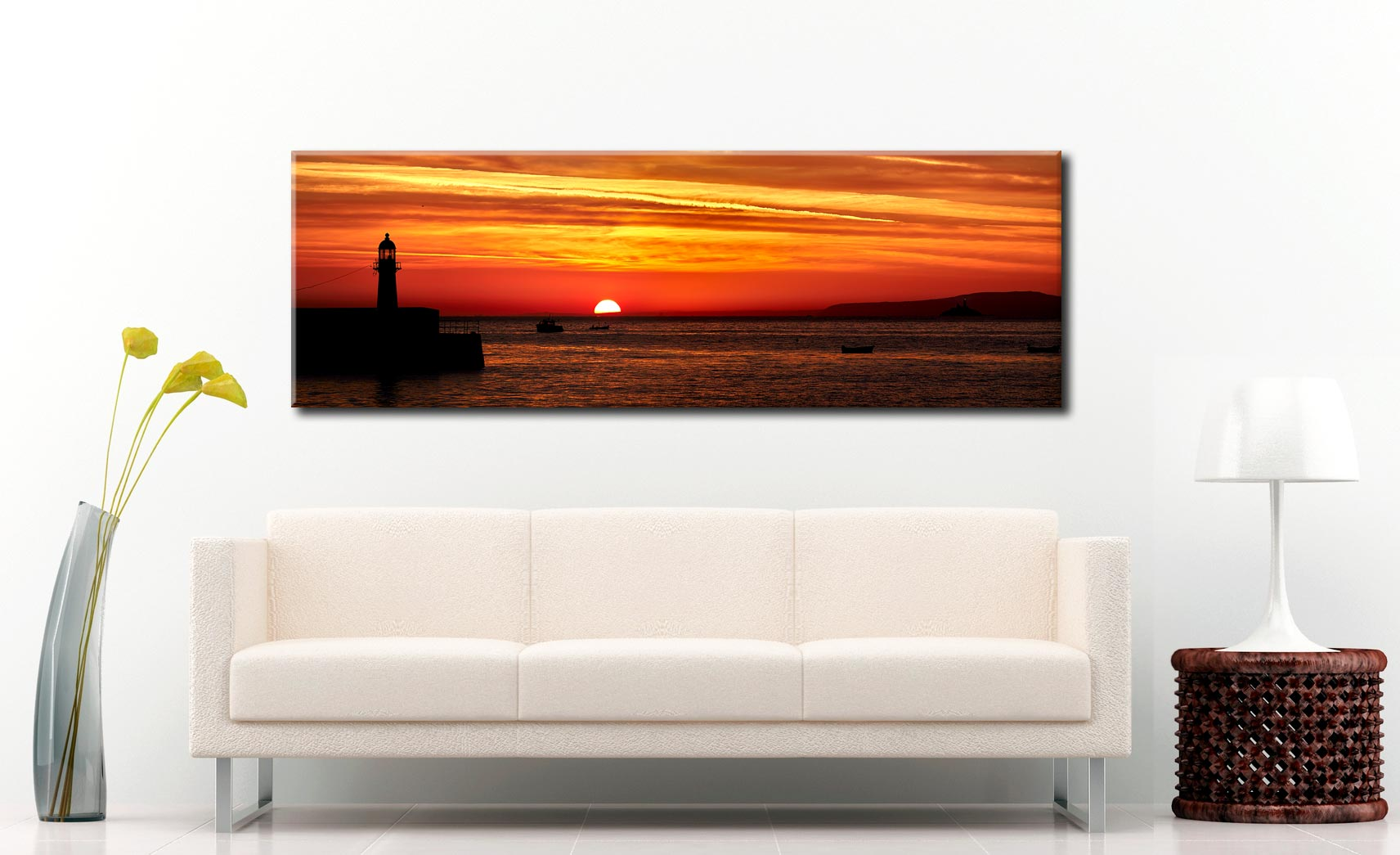 Dawn Breaking Over St Ives Bay Canvas on Wall