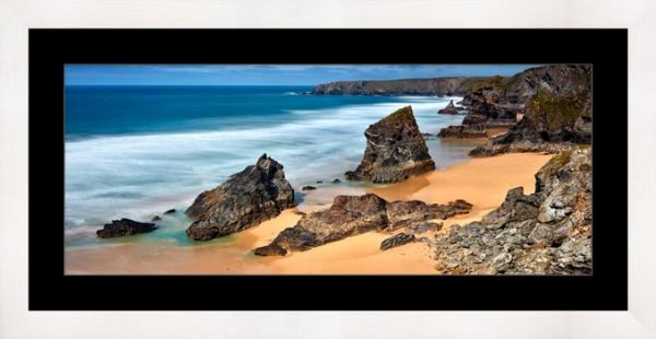 Postcard From Bedruthan Steps - Framed Print with Mount