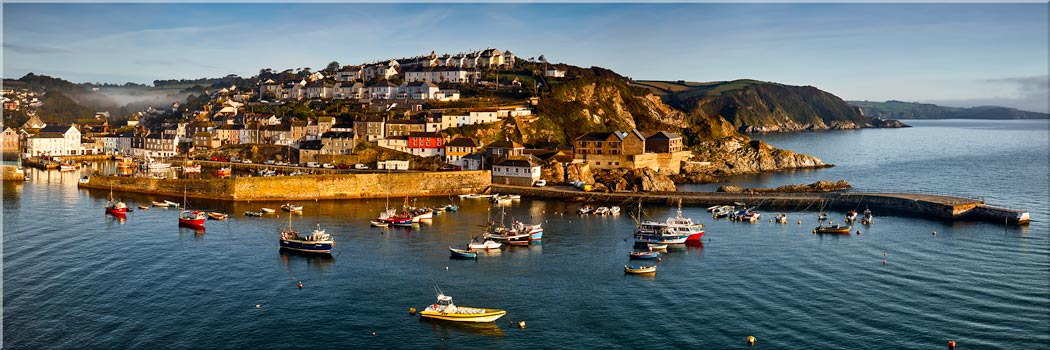 Mevagissy Harbour Panorama - Canvas Print