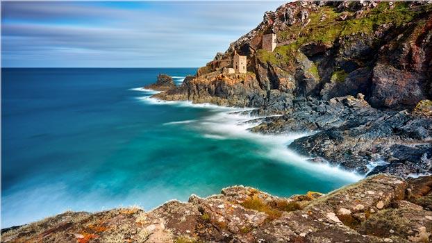 Green Ocean at Botallack - Cornwall Canvas