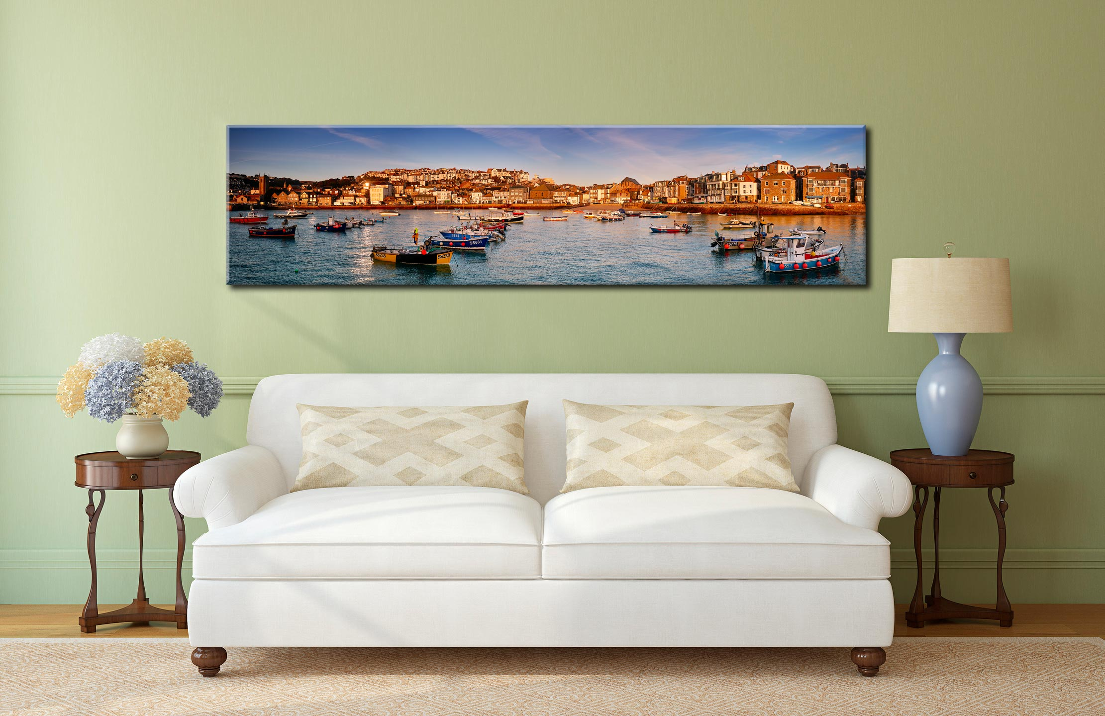 St Ives Harbour in Afternoon Sunshine - Cornwall Canvas on Wall
