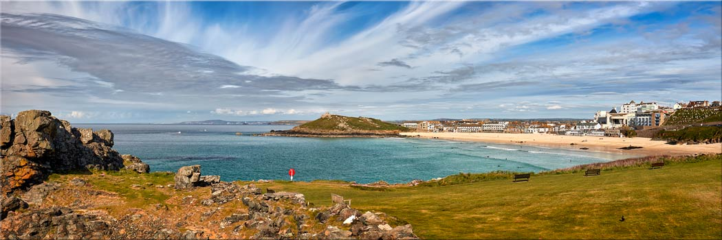 St Ives Bay Panorama - Canvas Print