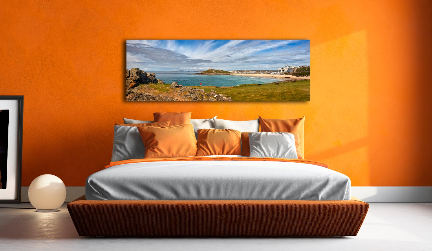 St Ives Bay Panorama - Canvas Print on wall