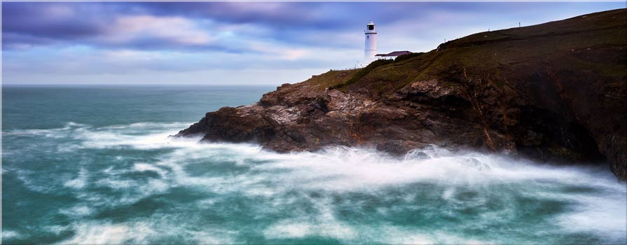 Stinking Cove and Trevose Head Lighthouse - Canvas Print