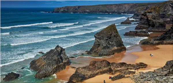 Bedruthan Steps Beach Rocks - Canvas Print