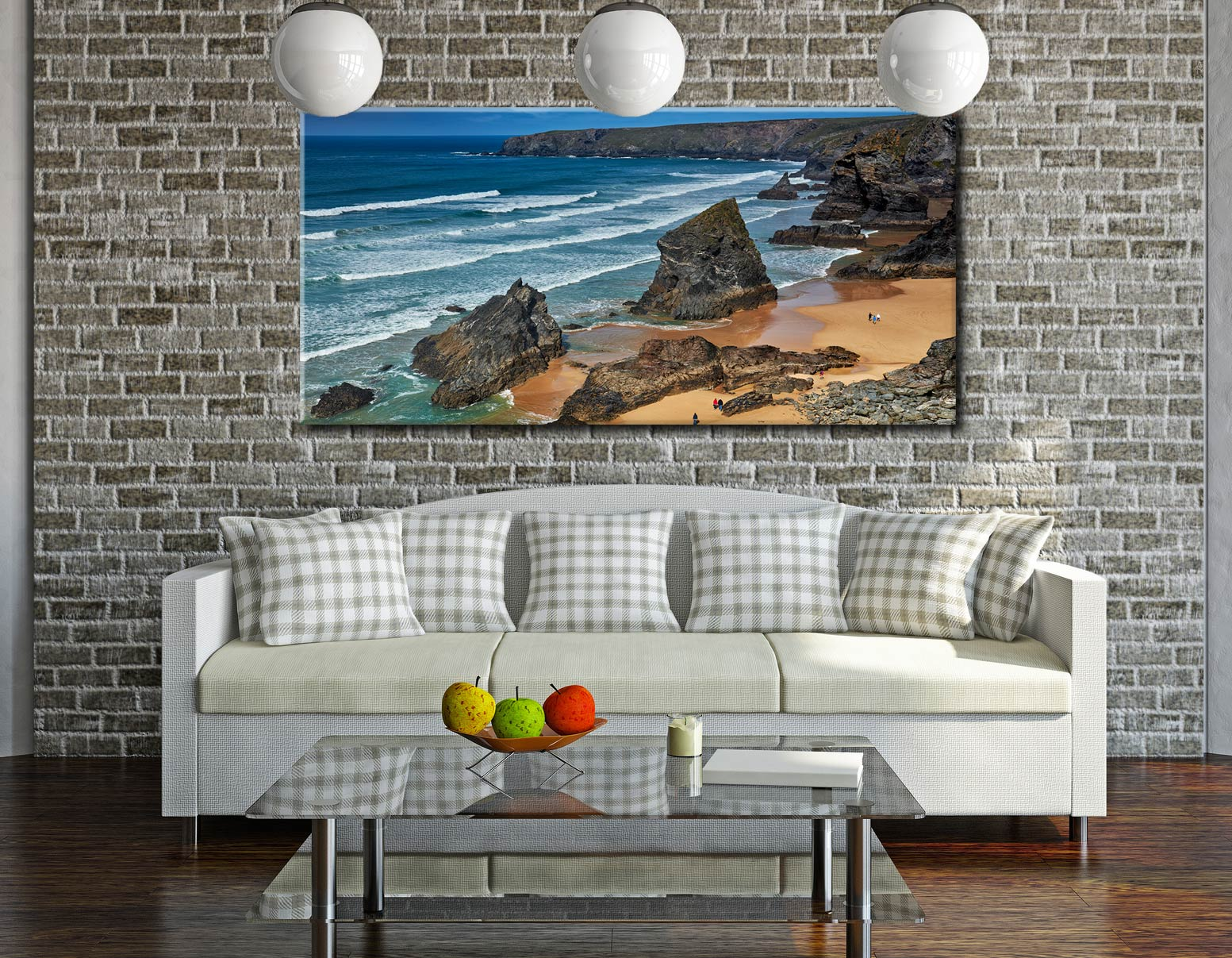 Bedruthan Steps Beach Rocks - Canvas Print on Wall