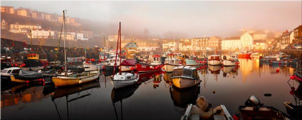 Mevagissy Golden Morning - Canvas Print