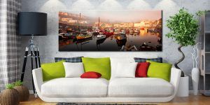 Mevagissy Golden Morning - Canvas Print on Wall