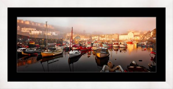 Mevagissy Golden Morning - Framed Print with Mount