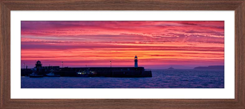 Approaching Dawn Over St Ives - Framed Print with Mount