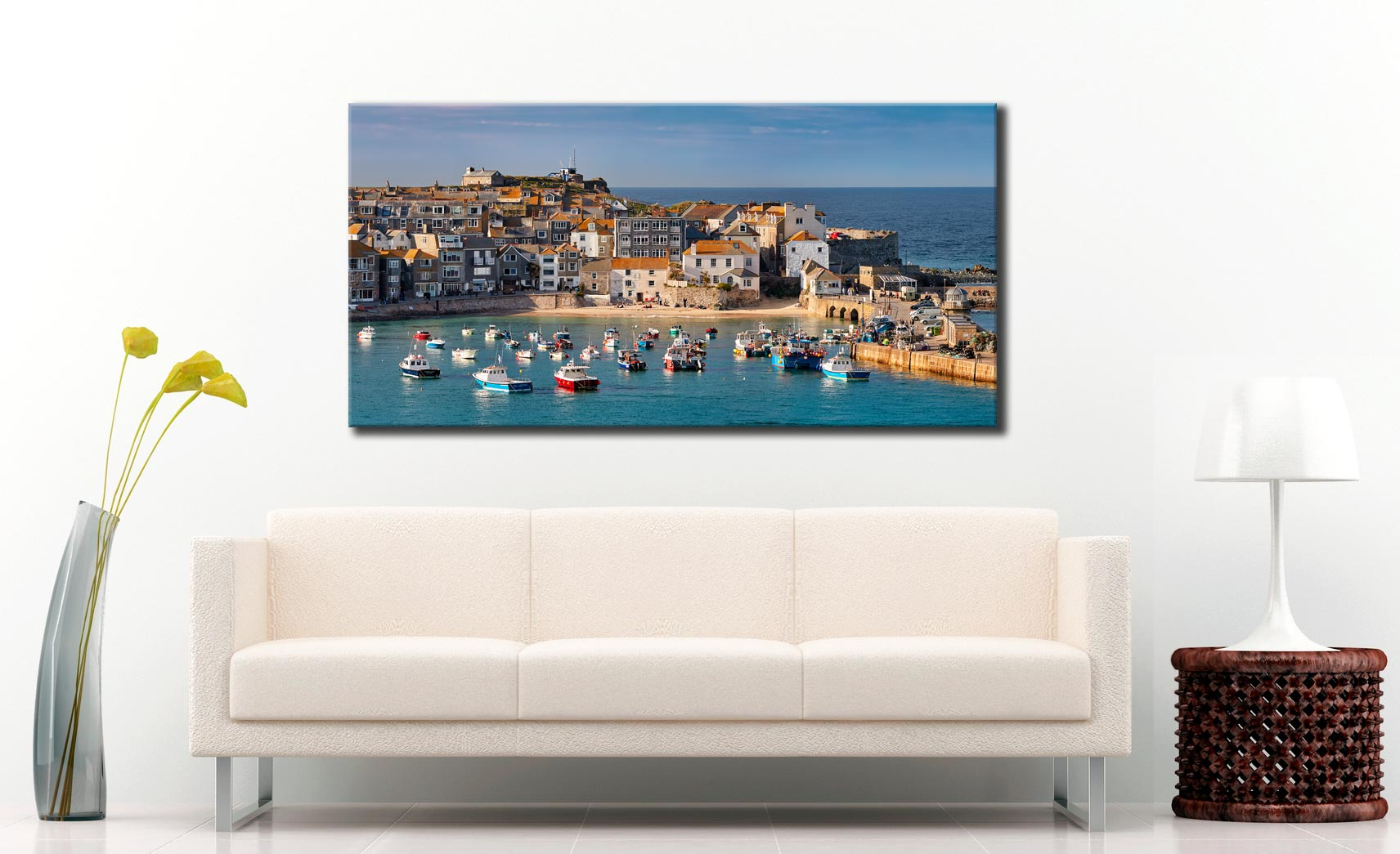 St Ives Harbour Beach - Canvas Print on Wall