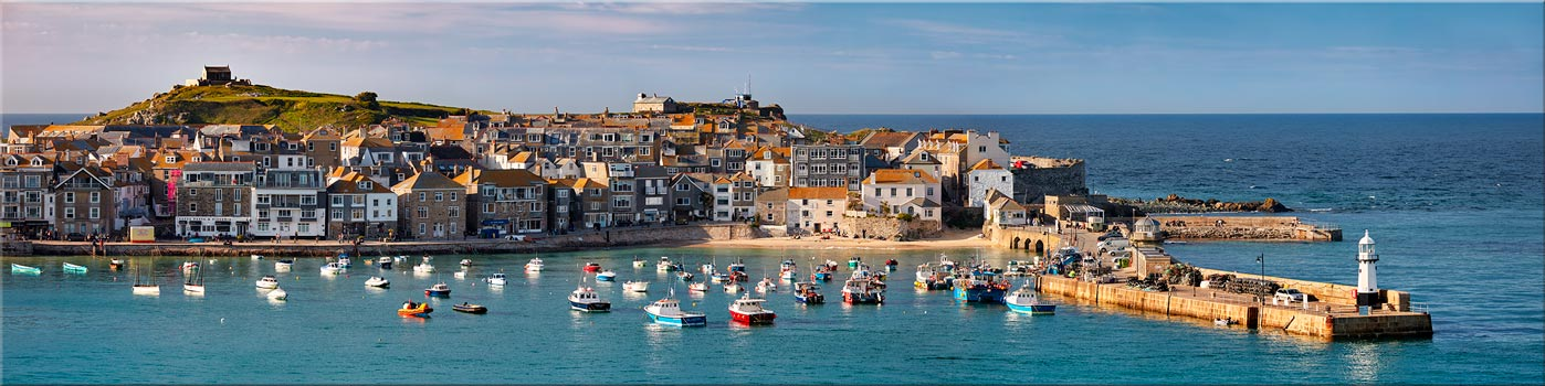 St Ives Harbour in Afternoon Sunshine - Canvas Print