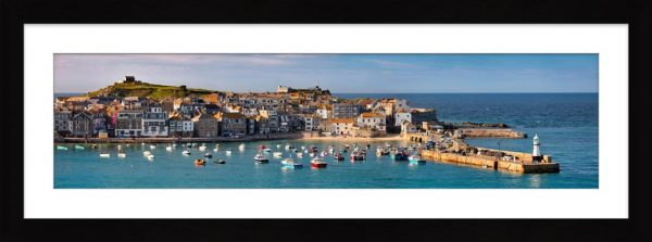 St Ives Harbour in Afternoon Sunshine - Framed Print with Mount