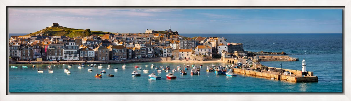 St Ives Harbour in Afternoon Sunshine - Modern Print