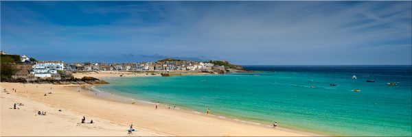 St Ives Bay Porthminster Beach - Canvas Print