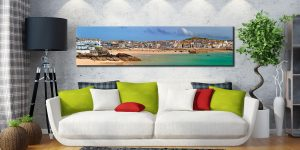 St Ives Seafront - Cornwall Canvas on Wall