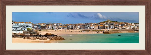 St Ives Seafront - Framed Print with Mount