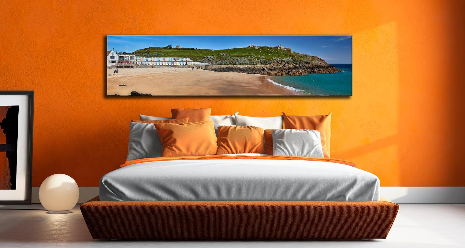 Porthgwidden Beach The Island - Cornwall Canvas on Wall