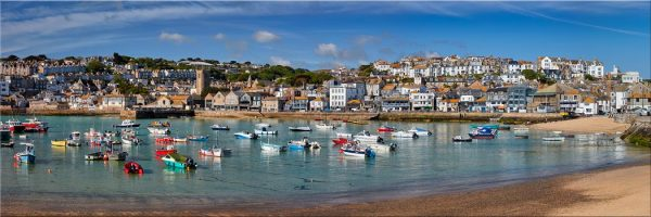 St Ives Harbour Morning - Canvas Print