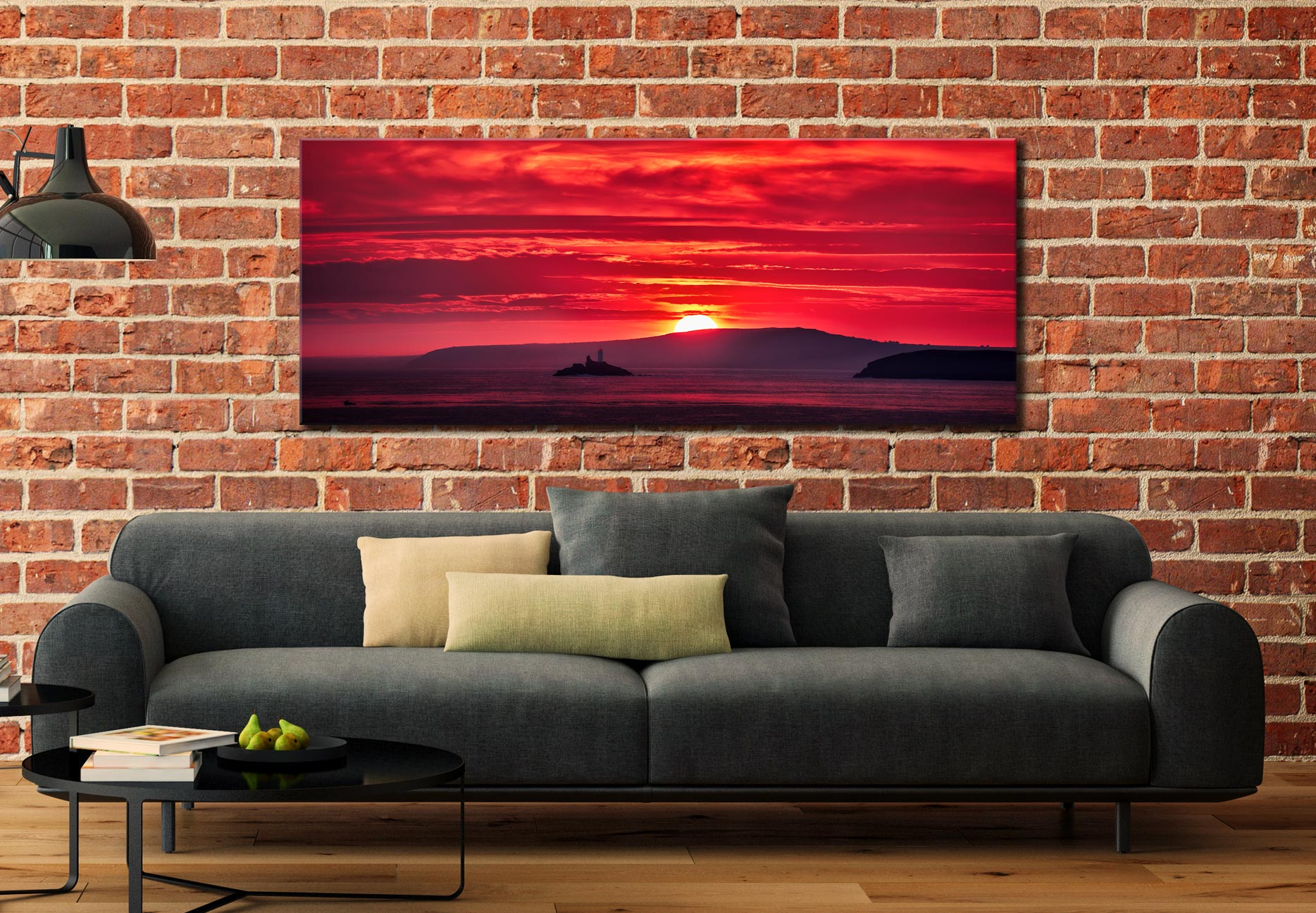 Red Sky in Morning - Canvas Print on Wall