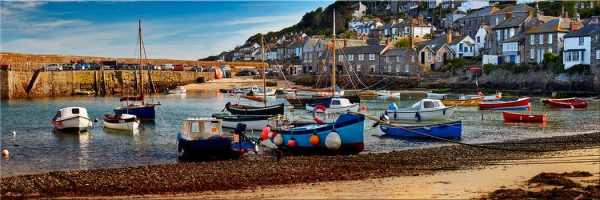 Mousehole Harbour Morning - Canvas Print
