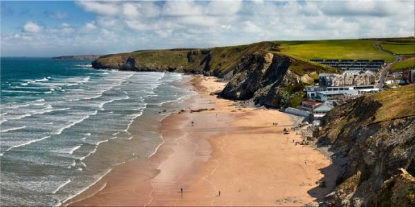 Watergate Bay Beach  - Canvas Print
