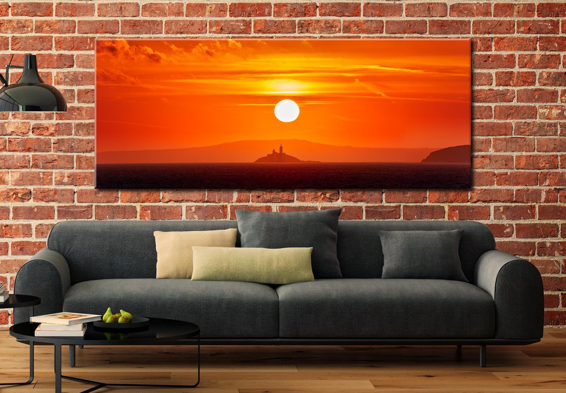 Godrevy Lighthouse Sunrise - Canvas Print on Wall