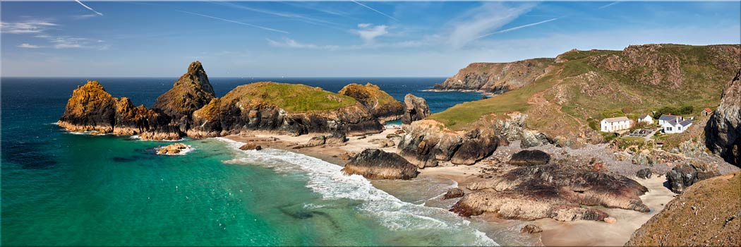 Kynance Cove and Cafe - Canvas Print