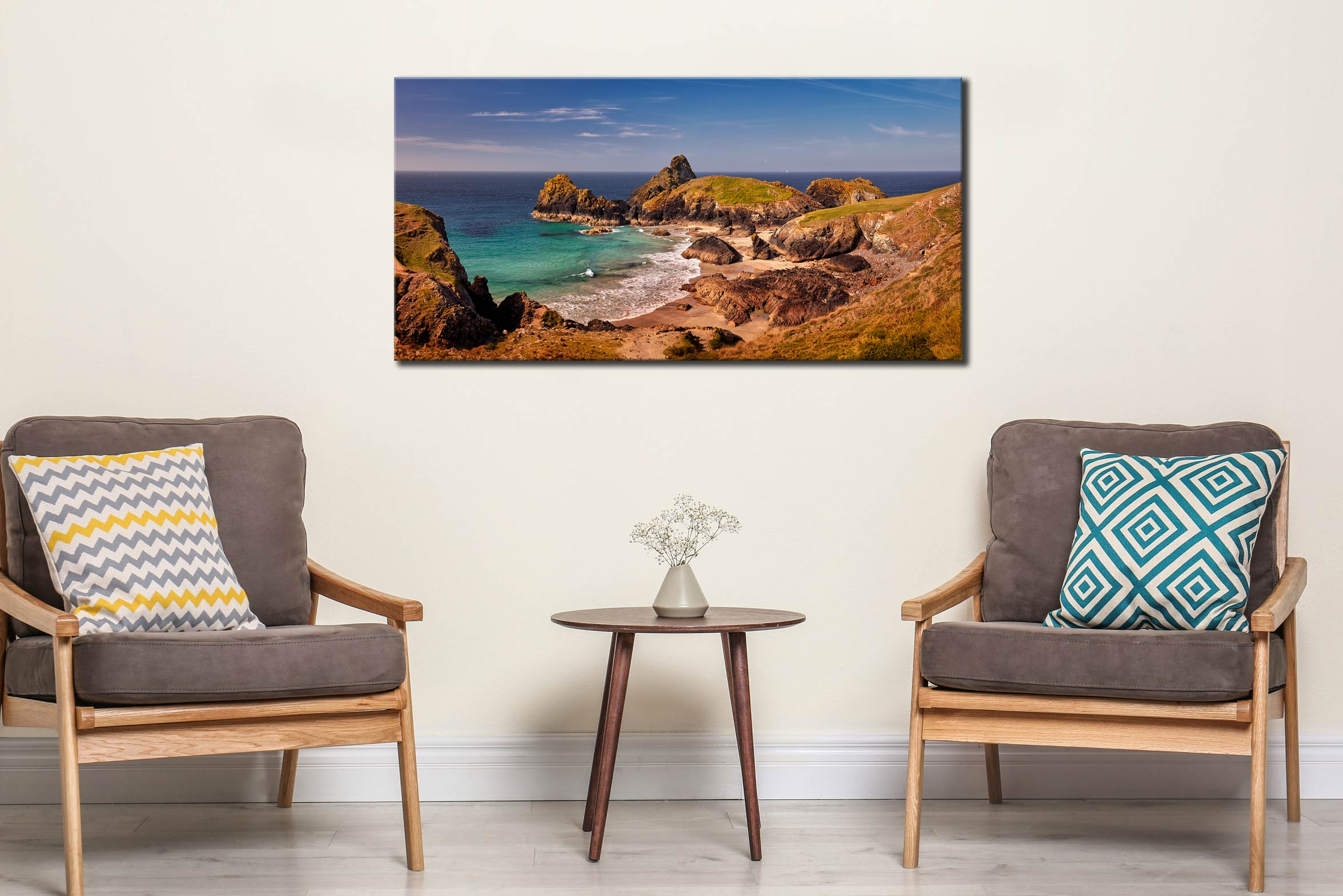 Kynance Cove Tropical Waters - Canvas Print on Wall